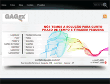 Tablet Preview of gagex.com.br